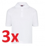 3x Polo t-shirt wit maat XL